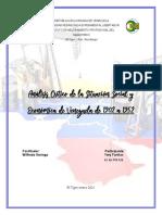 Análisis crítico de la situación social y económica de Venezuela de 1902 a 1952