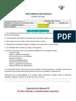 2do año - Castellano - Primera actividad (2L)