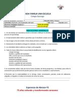 3er año - Castellano - Primera actividad (2L)