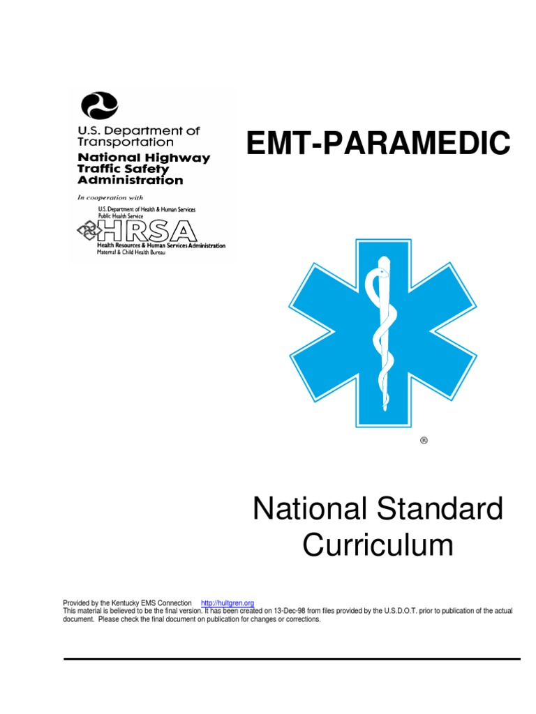 New EMT-P Curriculum[1] Copy | Paramedic | Emergency Medical Services