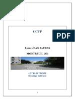 Cctp Electricite Lycee Jean Jaures