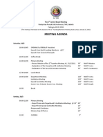 Agenda of First Central Board of PERSILAT Meeting February 18-20 2011