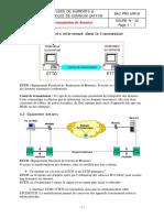 Transmission de données. A) Principaux éléments intervenant dans la transmission