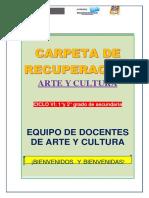 CARPETA DE RECUPERACIÓN - ARTE Y CULTURA - 1° Y 2°- CICLO VI-POLI