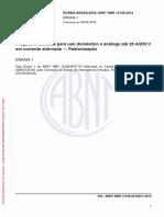 NBR 14136 (2002) - Plugues e Tomadas Para Uso Doméstico e Análogo Até 20 a-250 v Em Corrente Alternada (Padronização) (ERRATA 1 de 06.05.2013)