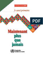 WHO - Rapport sur la Sante dans le Monde_ Les soins de sante primaires (2009) - libgen.lc.pdf