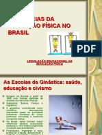 ESCOLAS DE GINÁSTICA E EDF NO BRASIL