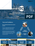 City of Toronto 2021 Capital and Operating Budget