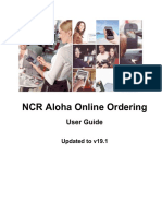 Aloha Online Ordering - User Guide - V19.1