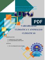 Variabilidad Climatica y Anomalias Climaticas