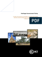 Heritage Assessment Policy Feb2015