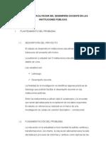 EL LIDERAZGO FACILITADOR DEL DESEMPEÑO DOCENTE EN LA INSTITUCIONES PÚBLICAS