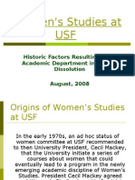 History of resource depletion Women's Studies at USF