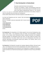 Infoblatt-Schulsystem in Deutschland