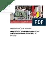 Testimonio de Dick Emanuelsson a la Comsion de Verdad en Colombia