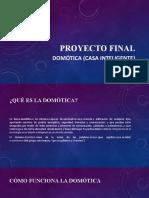 Proyecto final. Domotica (Casa inteligente)