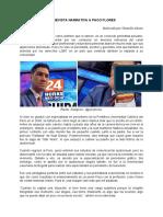 Entrevista Narrativa a Paco Flores