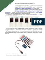 Control de Relés Con Control Remoto IR- Domótica (3)