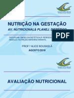 AULA 2-NUTR GESTANTE-AV NUTR & PLANEJ DIETÉTICO 2018