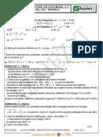 Devoir de Contrôle N°3 - Math - Bac Math (2010-2011) Mr azaiez
