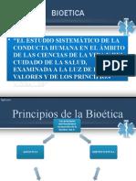 BIOETICA PRINCIPIOS DE BIOETICA. dra. Sandra Luz