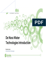 De Nora Water Technologies Introduction. Presenter name De Nora Water Technologies