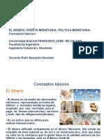 DOCUMENTO DE CLASE 8 EL DINERO CONCEPTOS BASICOS  2019.ppt