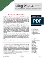 DVC-GBW Fall 2020 Newsletter