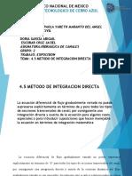 4.5 METODO DE INTEGRACION DIRECTA