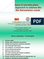 applications of microbe-plant-chemistry approach to address bio energy & bio remediation needs