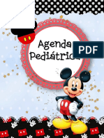 agenda pediatrica mickey mouse