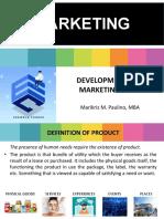 Development of Marketing Mix