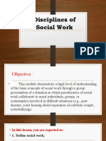Disciplines of Social Work