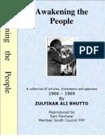 Awakening the people; Bhutto Speeches