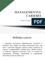 Managementul carierei pt. asistente