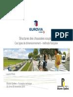 Structures des chaussées souples Cas types de dimensionnement – méthode française
