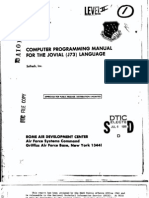 Computer programming manual for the JOVIAL (J73) language (1981) AD-A101 061