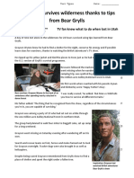 Bear Grylls article - information  text