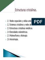 Tema 2- Estructura Cristalina-2