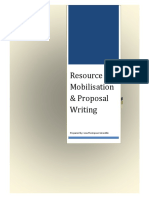 Resource Mobilization and Proposal Writing1
