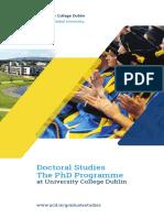 UCD15004 Doctoral Studies brochure full Updated 2020-1
