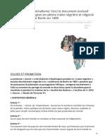 La charte de limpérialisme Voici le document exclusif