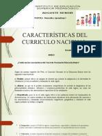 Características del Curriculo Nacional