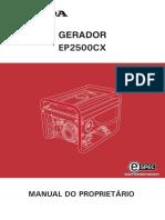 MANUAL DO PROPRIETÁRIO HONDA EP2500CX