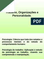 Trabalho, organizaes e personalidade1