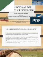 DIA NACIONAL DEL DEPORTE Y RECREACION