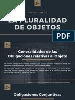 GENERALIDADES DE LAS OBLIGACIONES RELATIVAS AL OBJETO