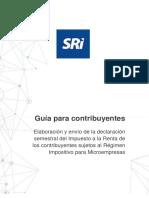 Guía Para El Contribuyente Renta Semestral Microempresas-Formulario 125 SRI Ecuador