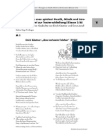 Gedichte kann man spielen! Gestik, Mimik und Intonation als Mittel zur Texterschließung (Klasse 5:6) Inszenierung zweier Gedichte von Erich Kästner und Ernst Jandl