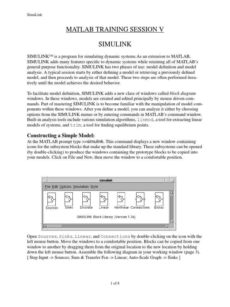 Matlab Training - SIMULINK | Matlab | Icon (Computing)